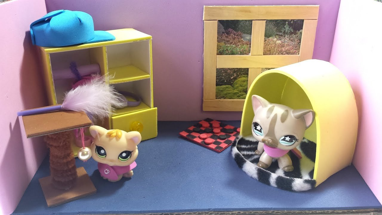 Best How To Make A Cute Bedroom For An Lps Cat Doll House Diy With Pictures
