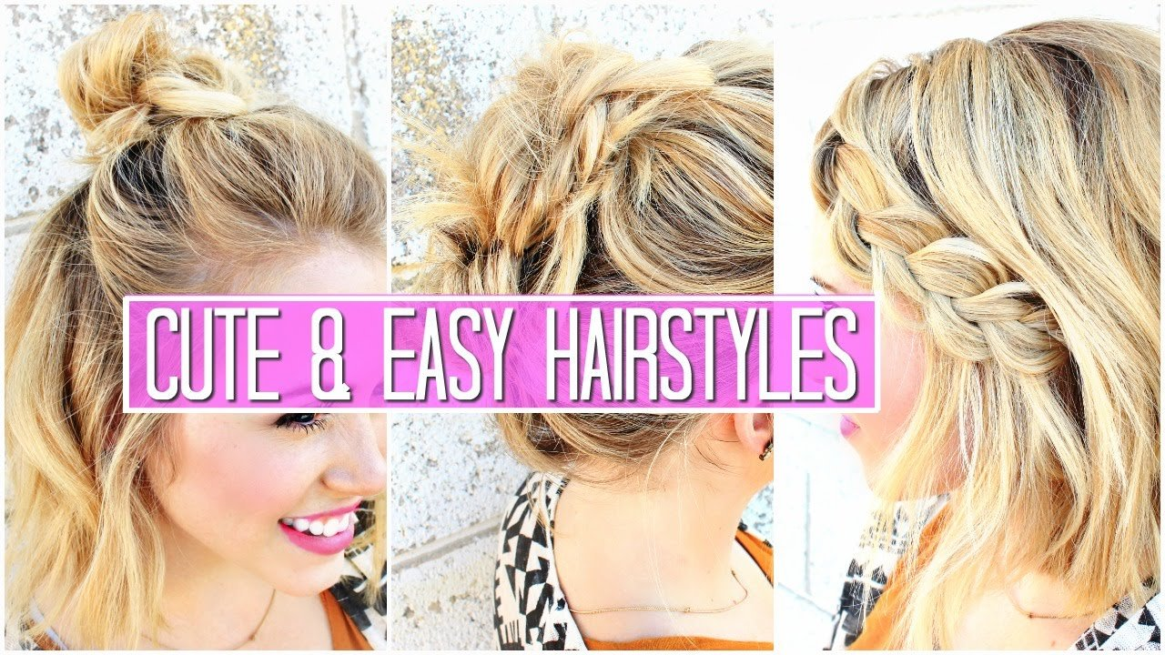 Free 3 Easy Hairstyles For Short Medium Hair Tutorial Cute Wallpaper