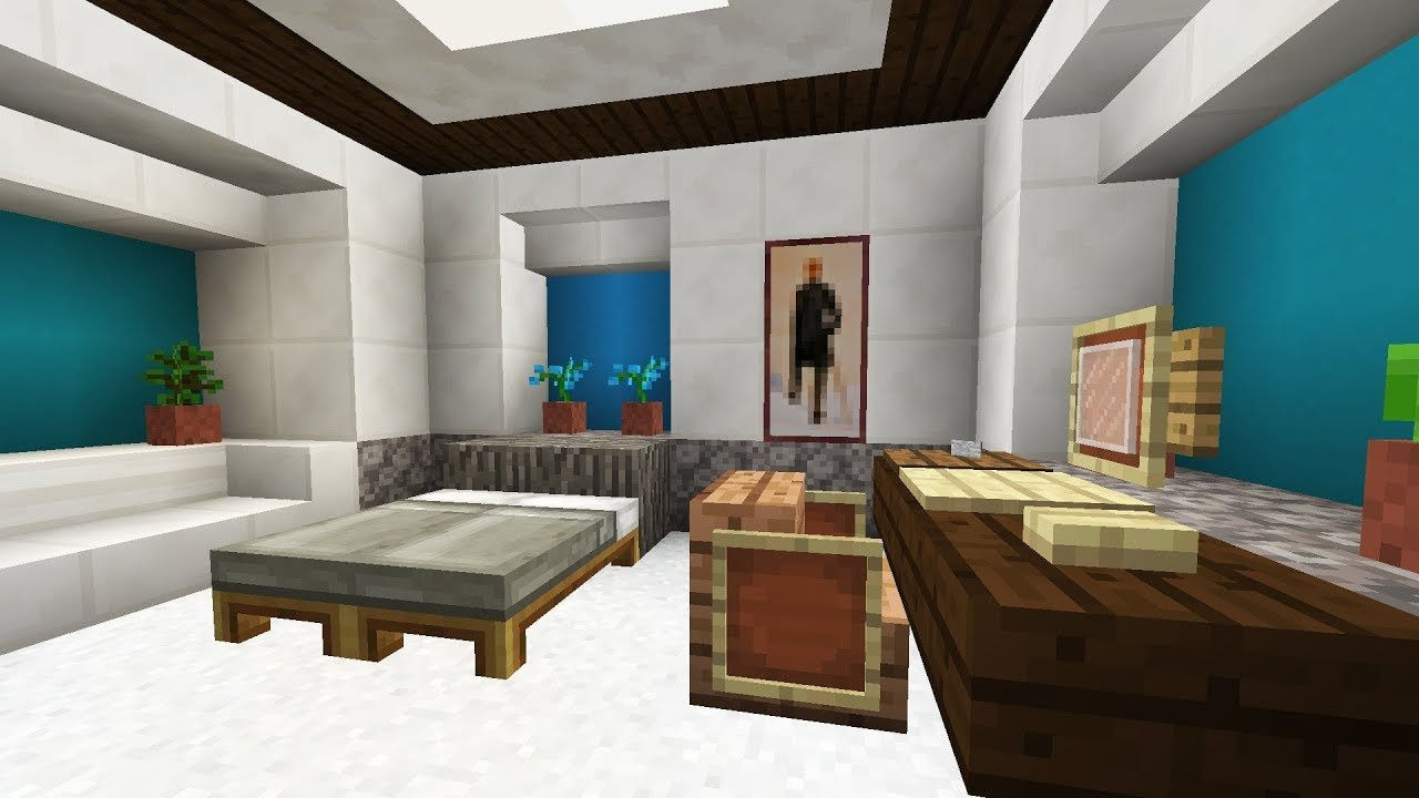 Best Minecraft Bedroom Interior Design Youtube With Pictures