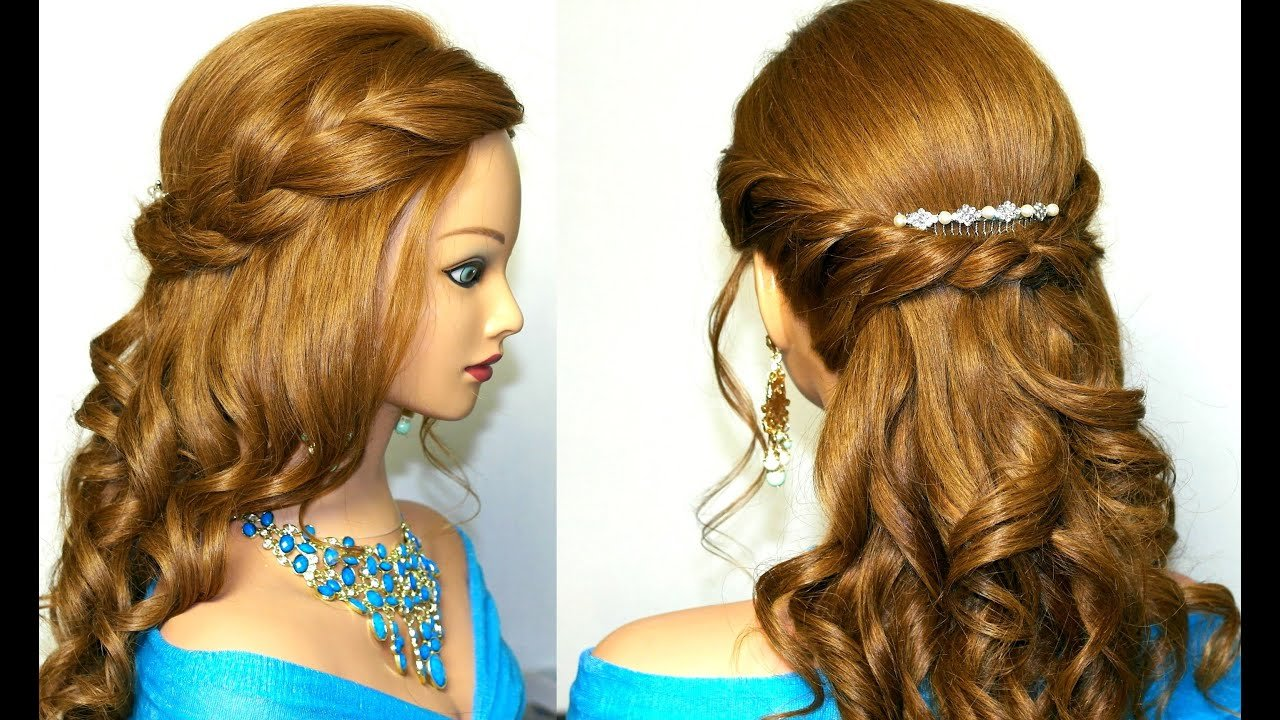 Free Curly Prom Hairstyle For Medium Long Hair Tutorial Youtube Wallpaper