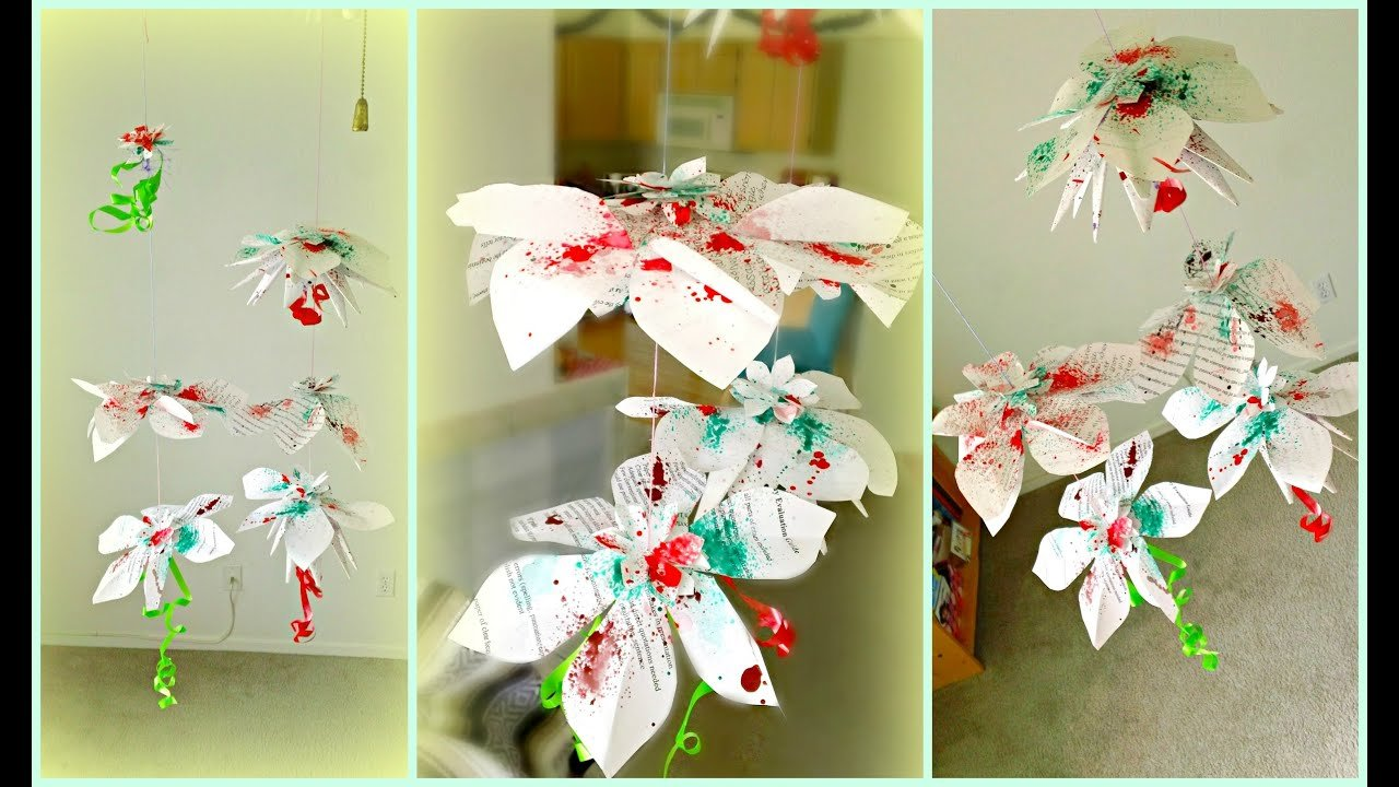 Best Diy Hanging Flowers Paper Decorations Youtube With Pictures