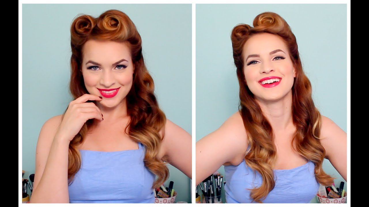 Free 1940 S 50 S Pinup Hair And Makeup Youtube Wallpaper