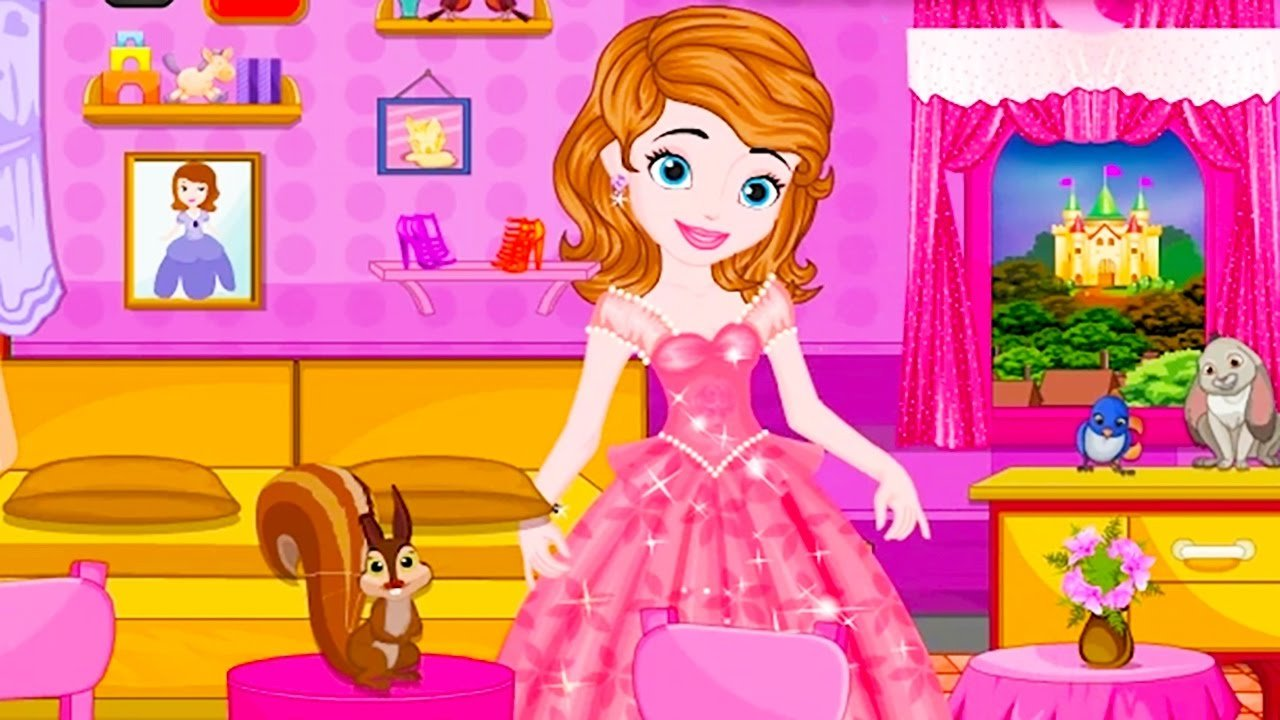 Best Sofia The First Princess Sofia Bedroom Decor Cleaning Disney Movie Cartoon Game For Kids With Pictures