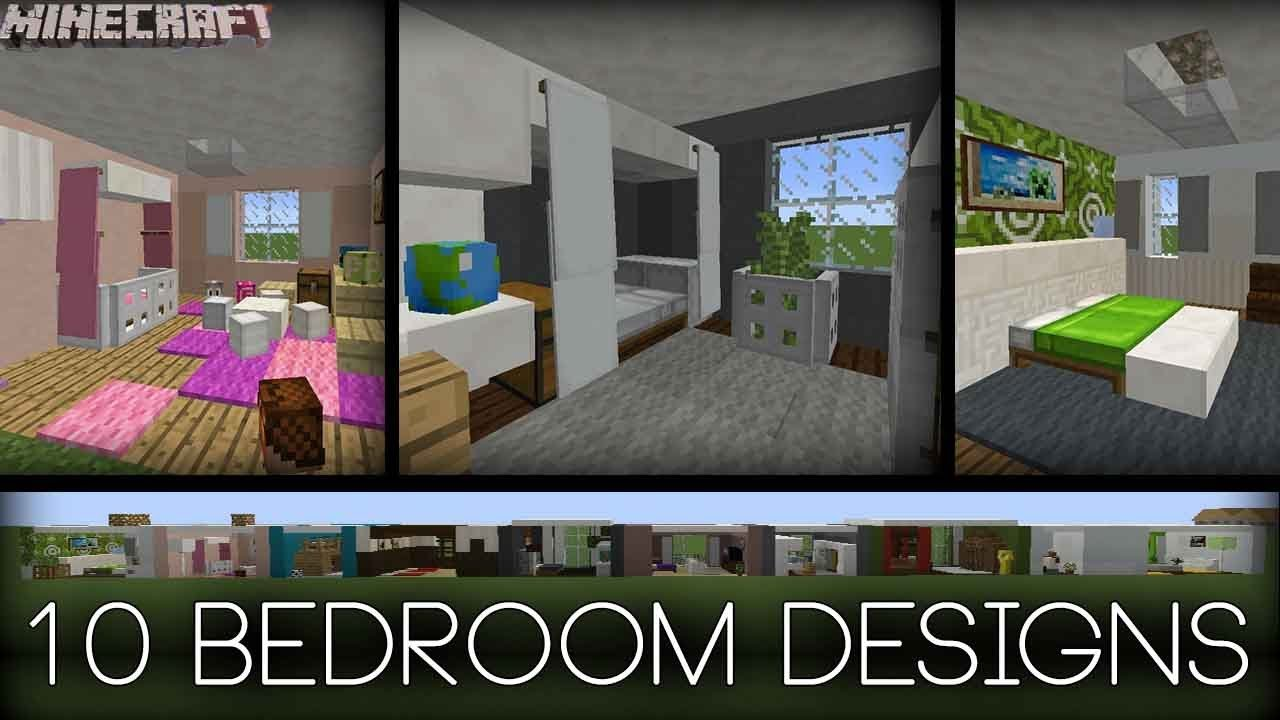 Best Minecraft 10 Bedroom Designs Plus Tips Youtube With Pictures