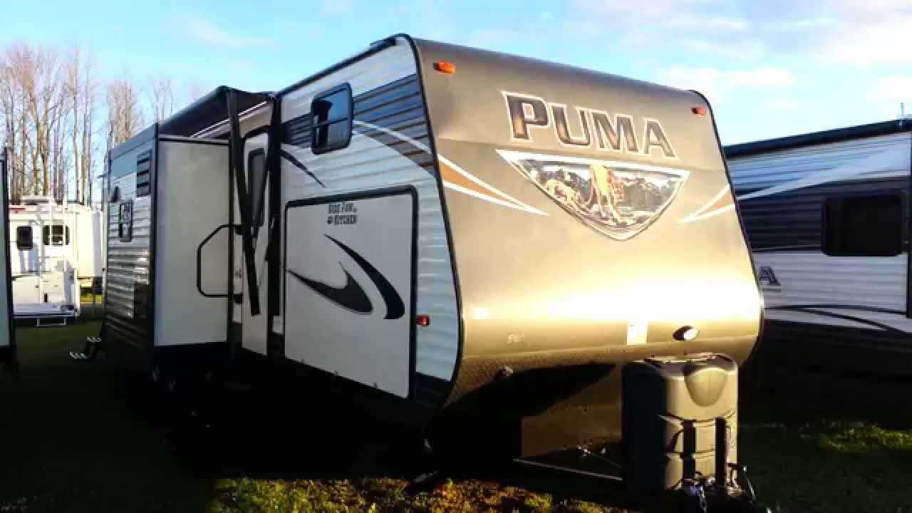 Best 2016 Puma 32Fbis 2 Bedroom Travel Trailer With Outside With Pictures