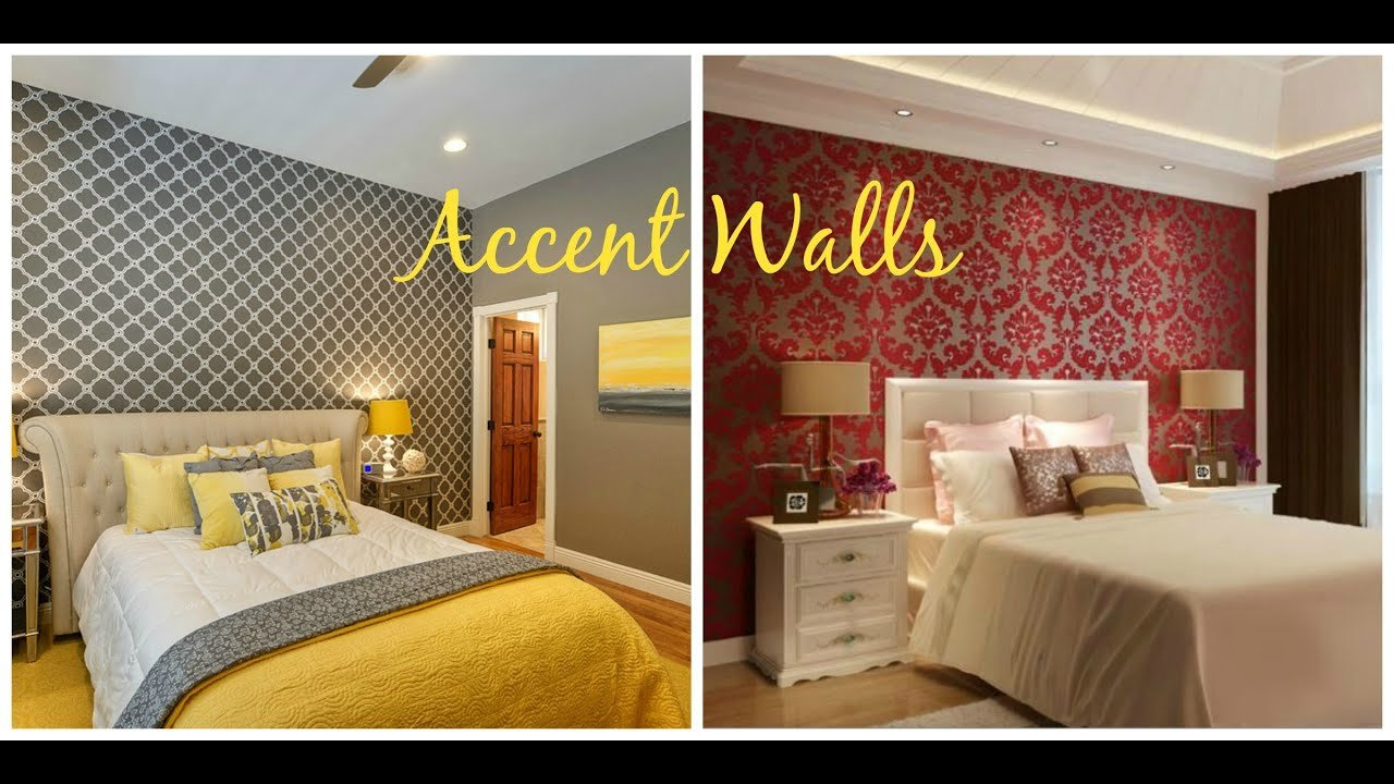 Best Bedroom Wallpaper Accent Walls Home Decor Ideas Youtube With Pictures
