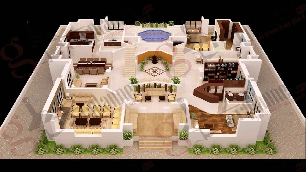 Best 4 Bedroom House Plans 3D Youtube With Pictures