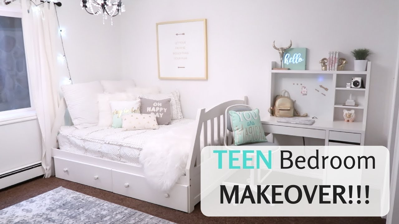 Best Cute T**N Bedroom Makeover Reveal Girls Decor Youtube With Pictures