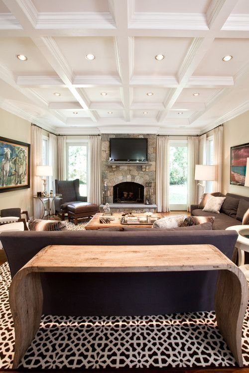 Best 36 Stylish And Timeless Coffered Ceiling Ideas For Any With Pictures