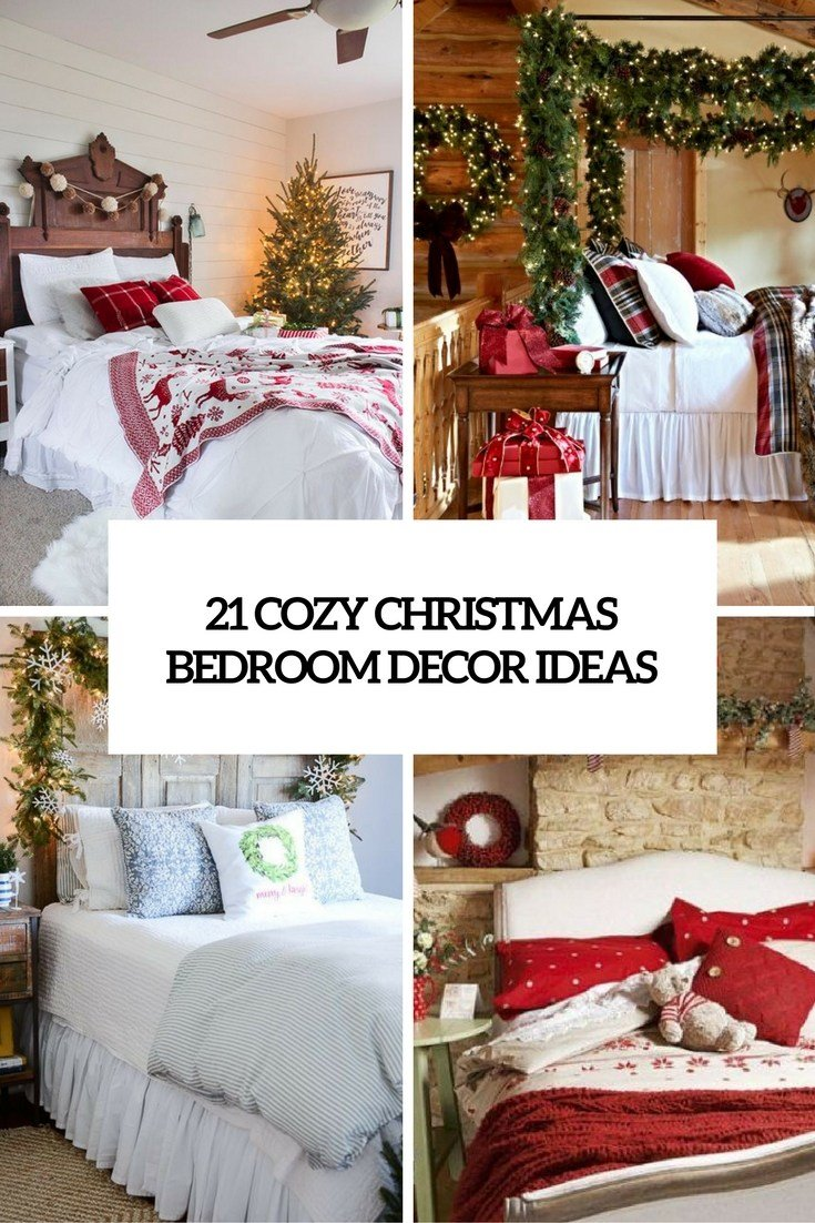Best 21 Cozy Christmas Bedroom Décor Ideas Shelterness With Pictures