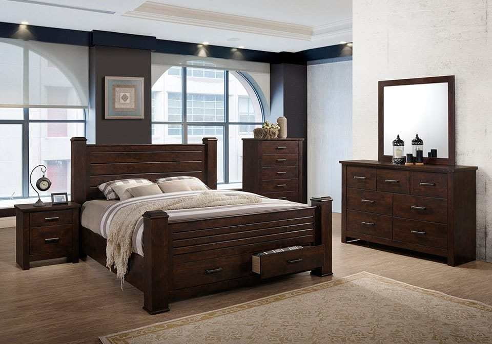 Best Brockett Dark Brown King Bedroom Set Louisville With Pictures