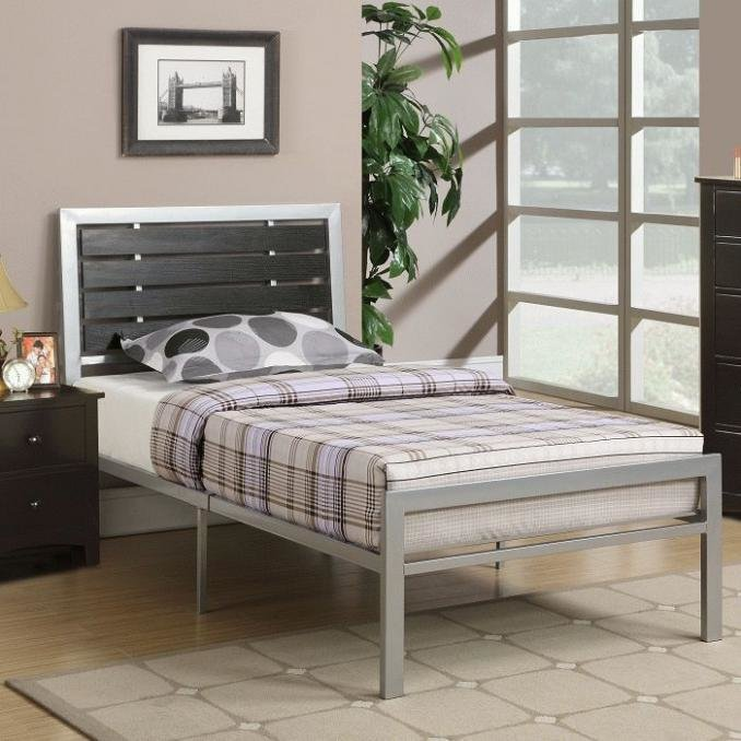 Best Buy 3 Pcs Silver Bedroom Set Metal Platform Bed In Los Angeles With Pictures