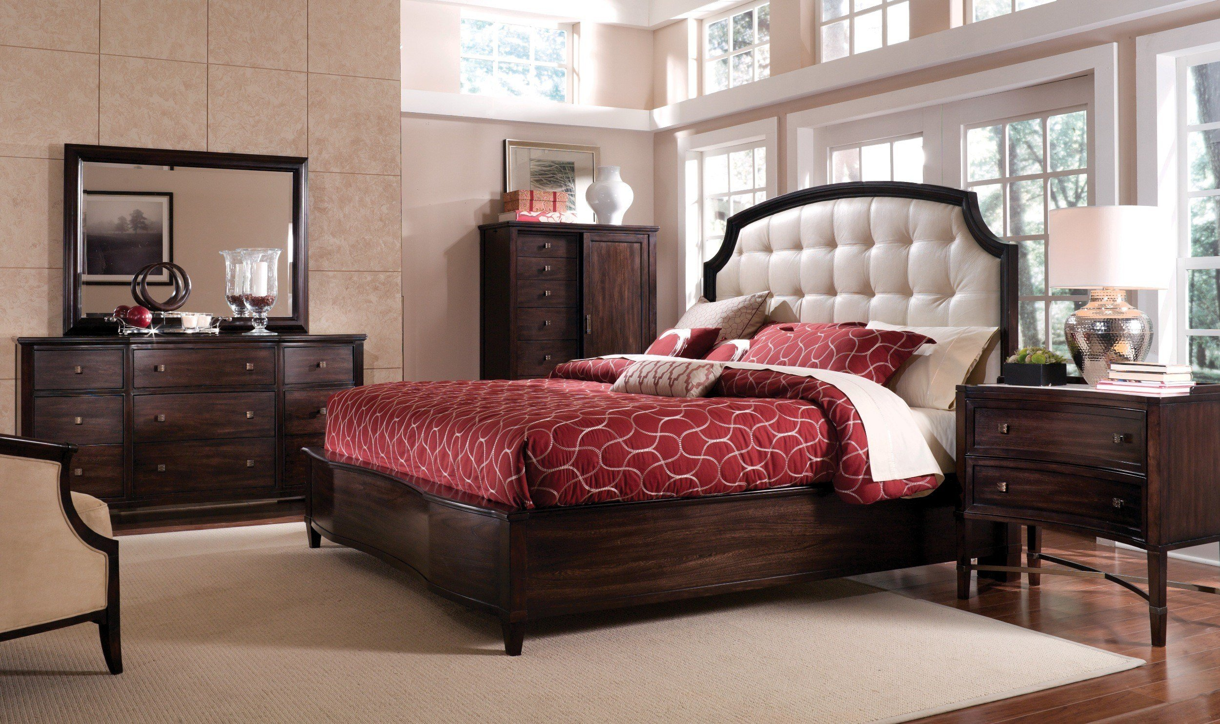Best Intrigue Leather Panel Bedroom Set From Art 161155 With Pictures