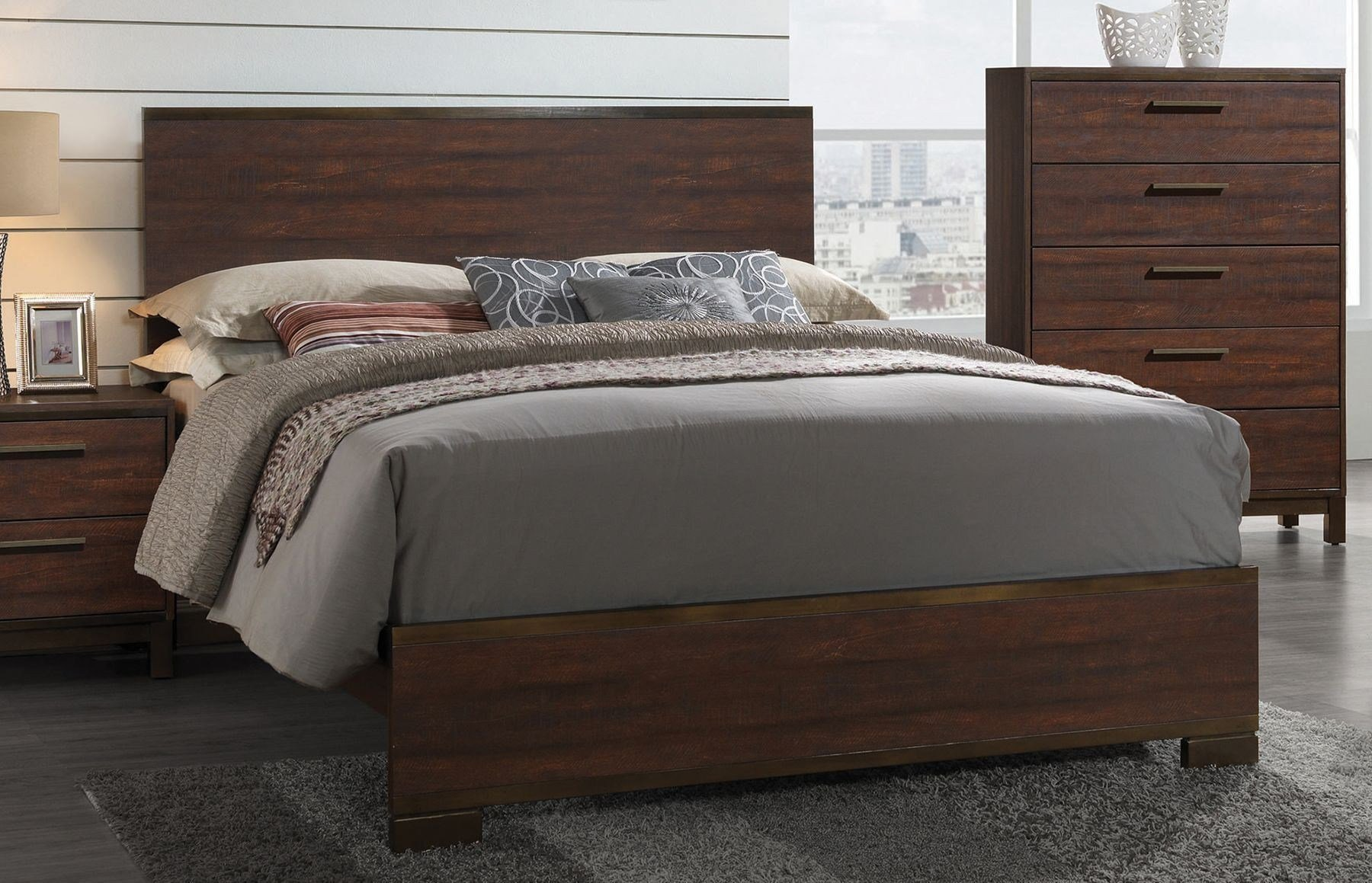 Best Edmonton Rustic Tobacco Platform Bedroom Set From Coaster With Pictures