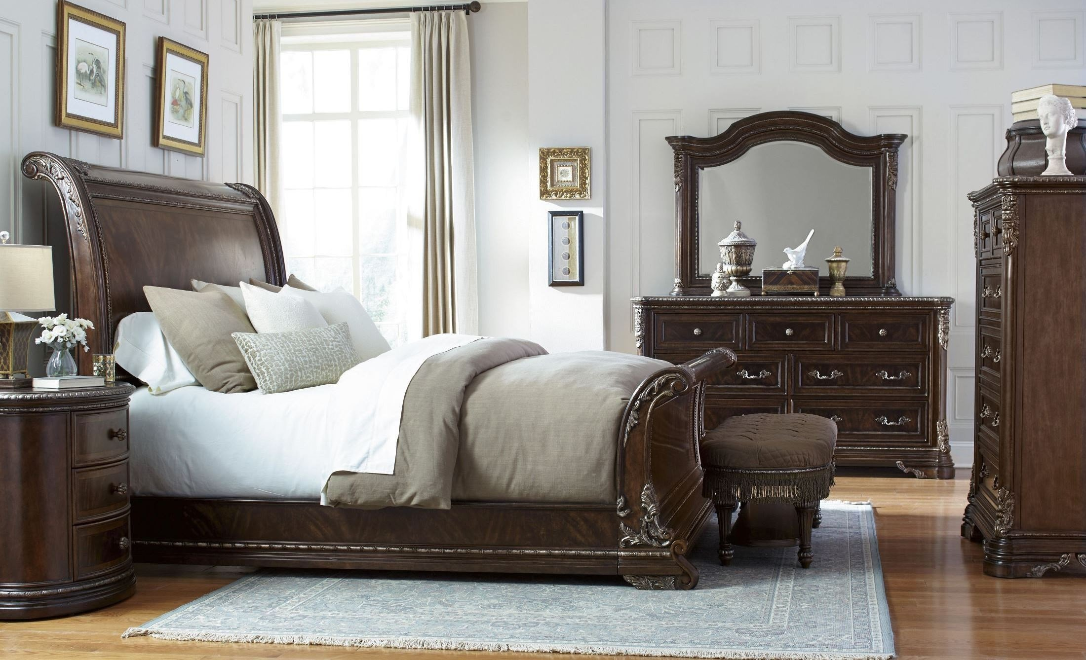 Best Gables Sleigh Bedroom Set From Art 245125 1707 Coleman With Pictures