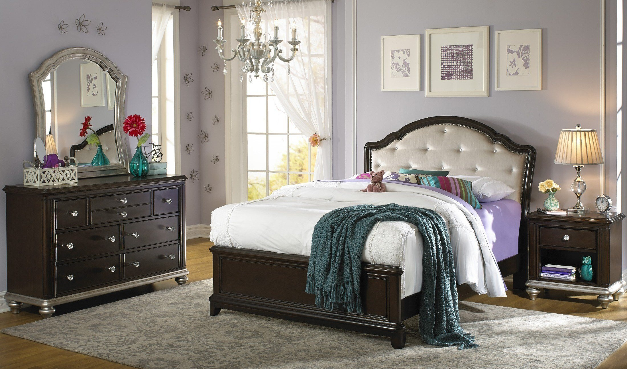 Best Glamour Youth Black Cherry Panel Bedroom Set From Samuel With Pictures