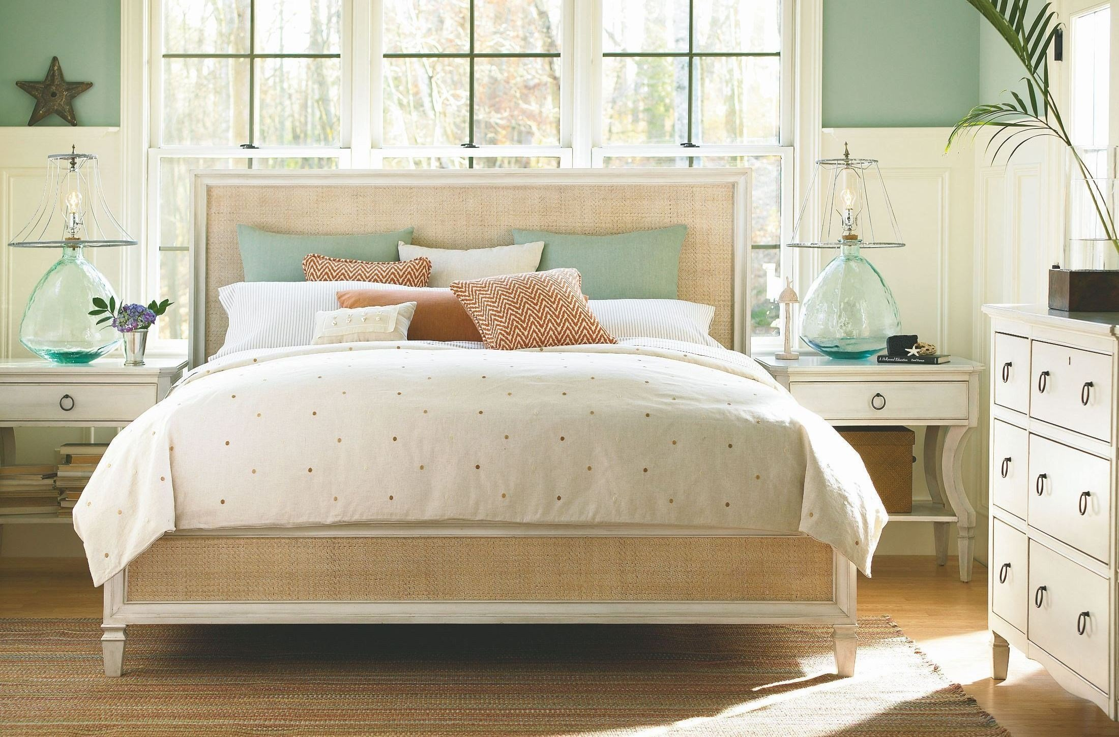 Best Summer Hill White Woven Accent Bedroom Set From Universal With Pictures