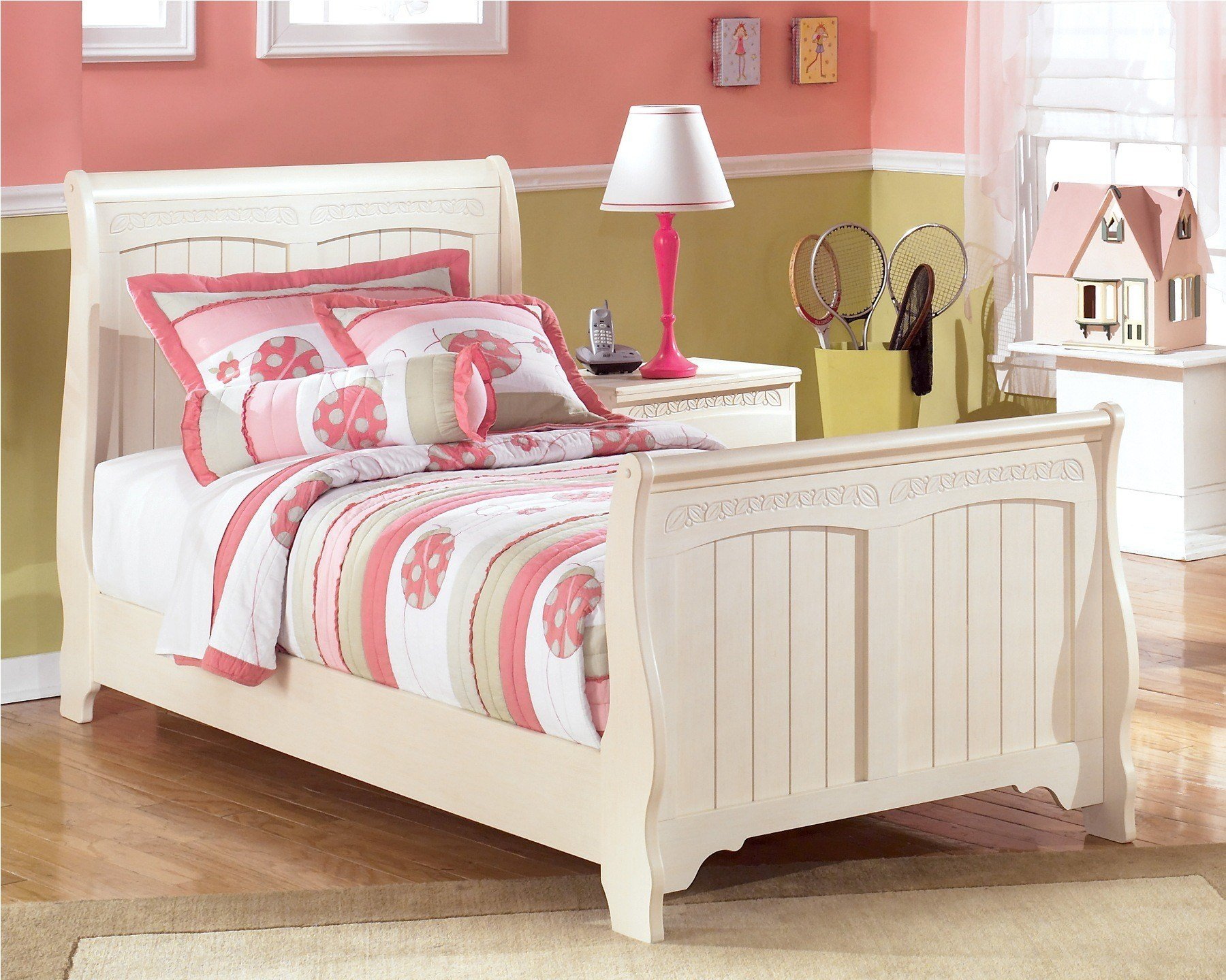 Best Cottage Retreat Full Sleigh Bed From Ashley B213 87 84 88 With Pictures