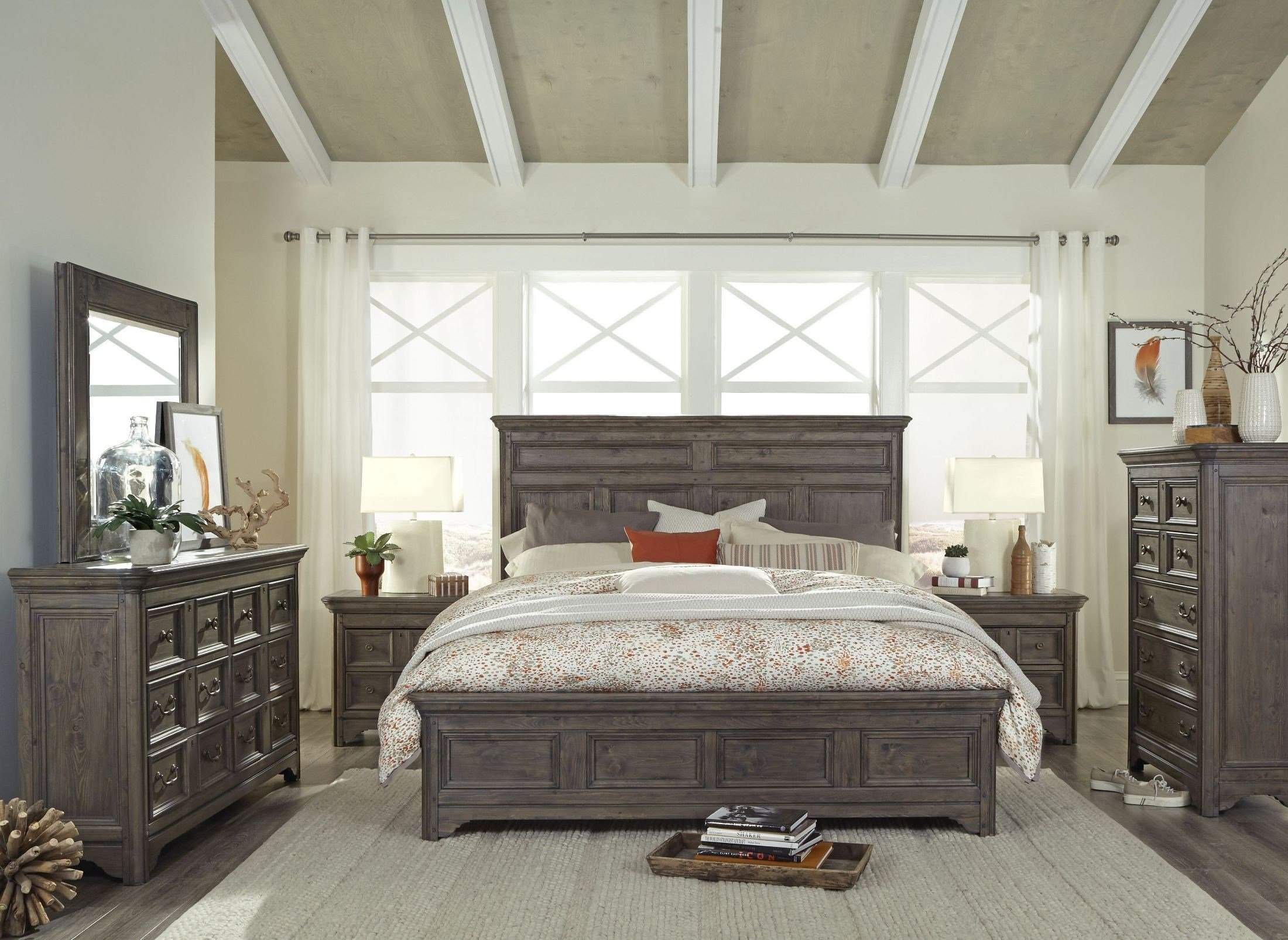 Best Shelter Cove Driftwood Panel Bedroom Set From Magnussen With Pictures