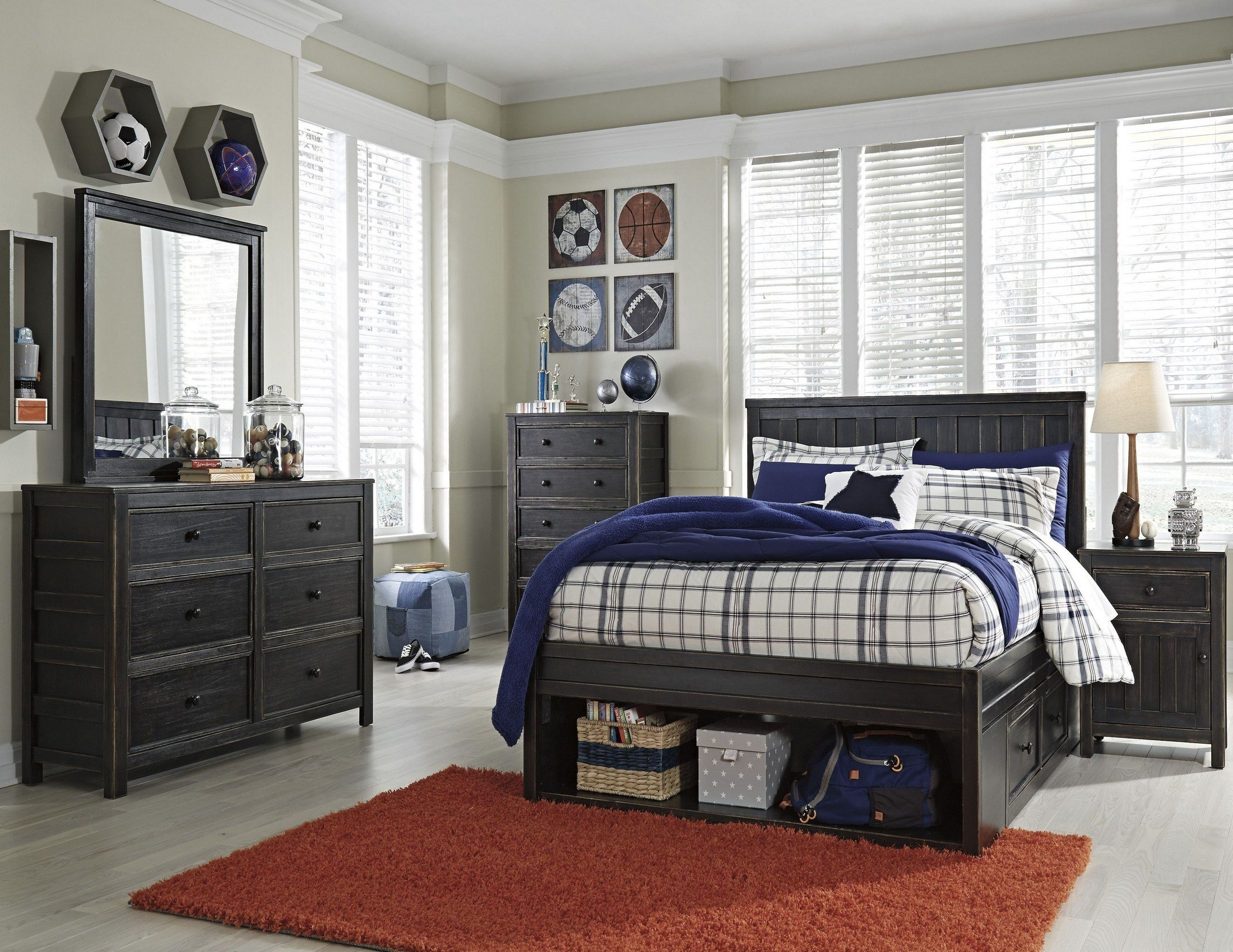 Best Jaysom Black Youth Panel Storage Bedroom Set From Ashley With Pictures