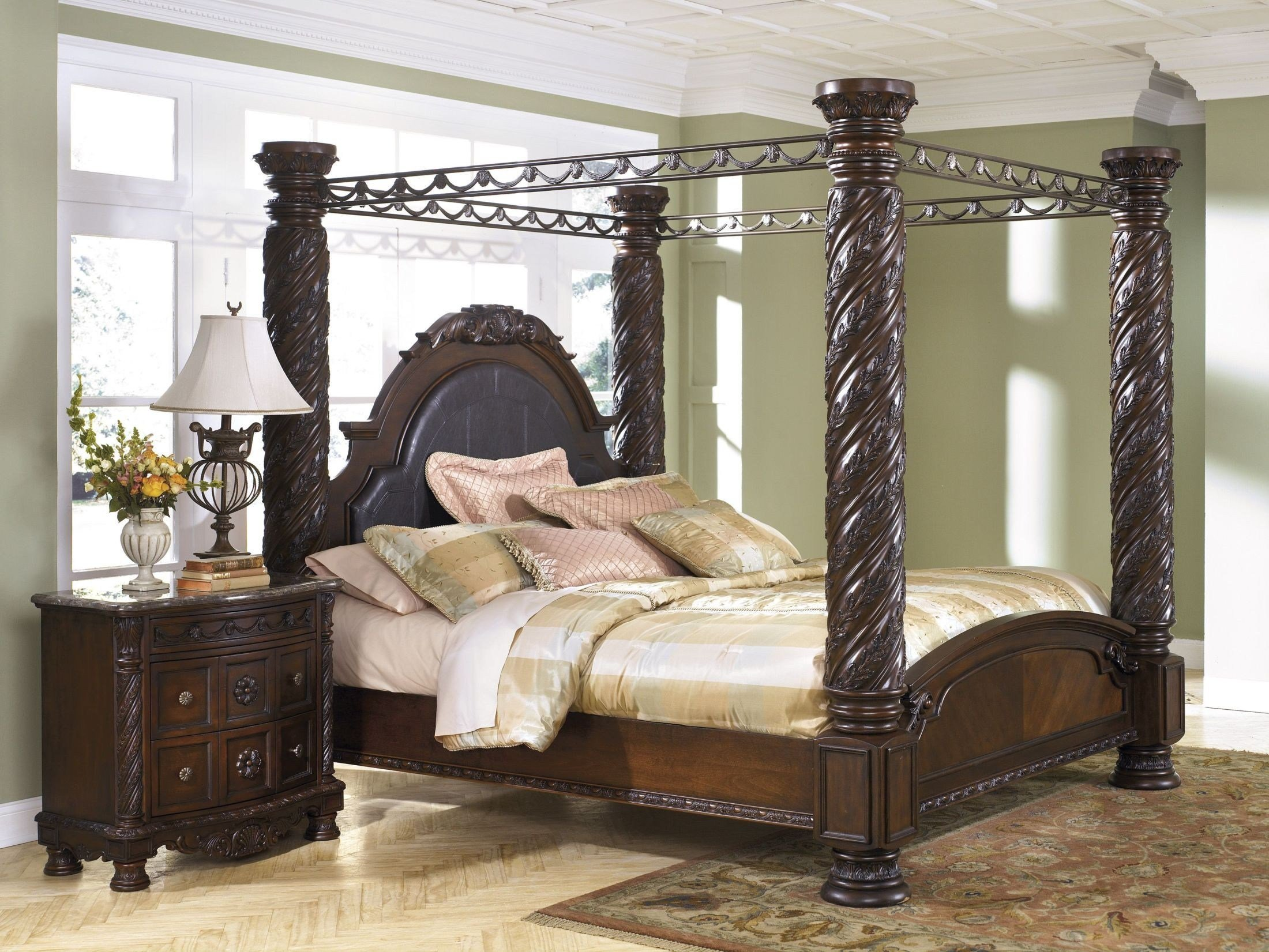 Best North Shore King Poster Bed With Canopy From Ashley With Pictures