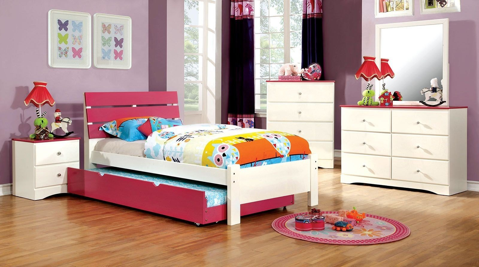 Best Kimmel Youth Pink And White Platform Bedroom Set From With Pictures