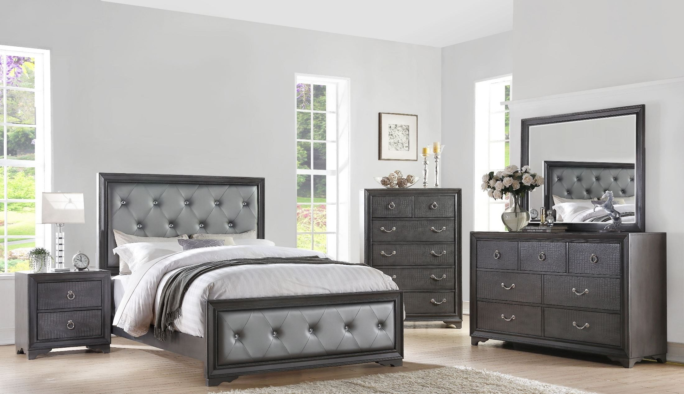 Best Rodeo Drive Pewter Gray Panel Bedroom Set From Avalon With Pictures