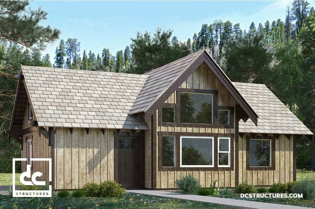Best The Deschutes Cabin Kit 1 Bedroom Cabin Plan Dc Structures With Pictures