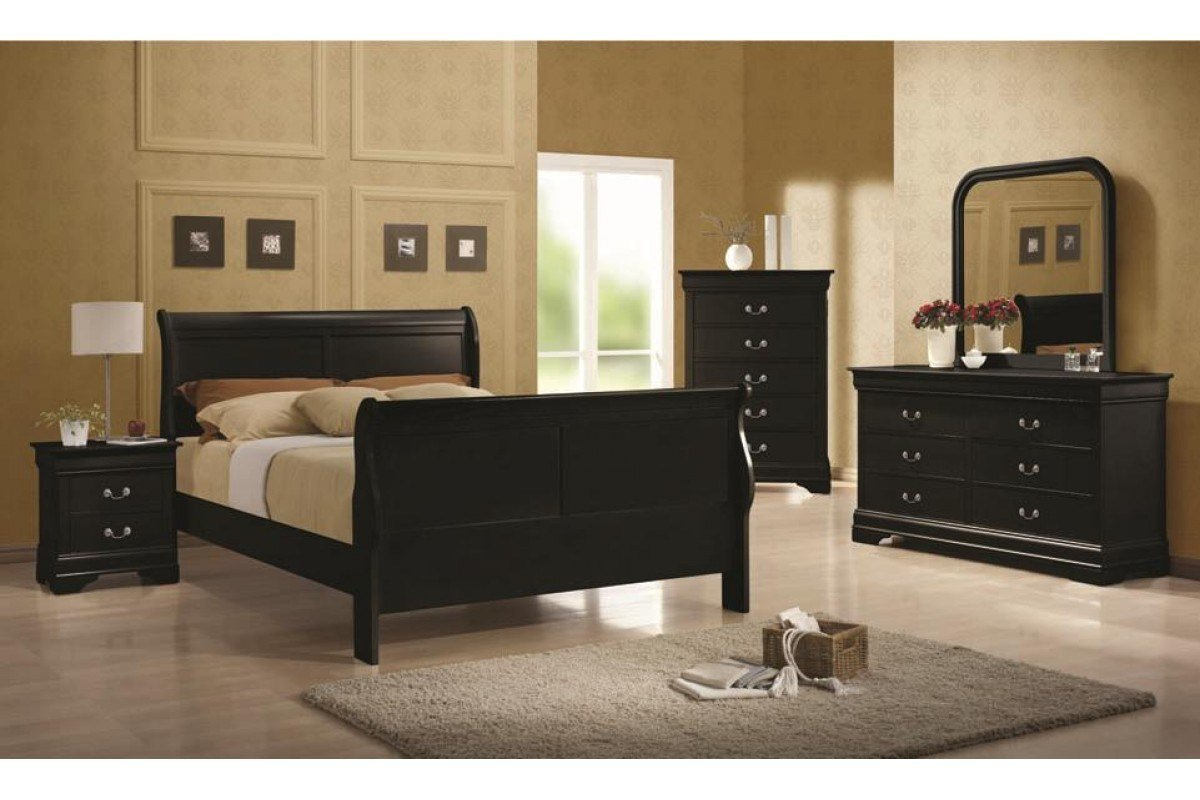Best Bedroom Sets Louis Philippe Full Bedroom Set Newlotsfurniture With Pictures