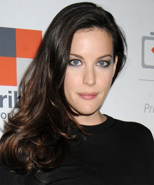 Free Liv Tyler Casual Long Straight Hairstyle Dark Brunette Wallpaper