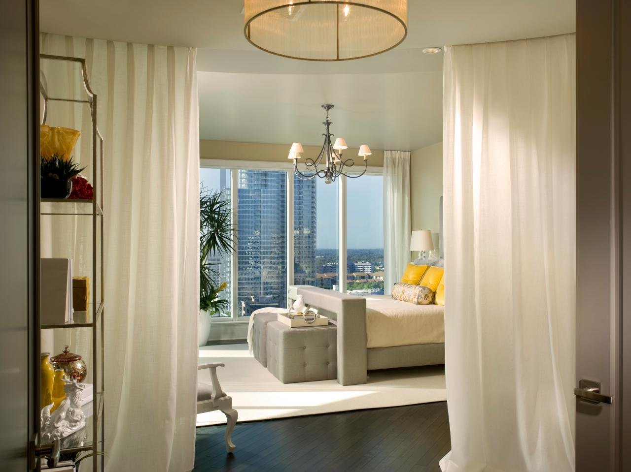 Best Master Bedroom With Curtain Room Divider Hgtv With Pictures