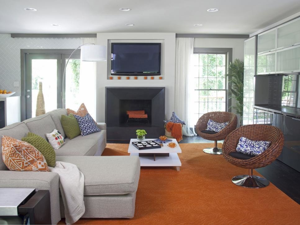 Best A Modern Great Room That Fits A Family Elbow Room Hgtv With Pictures