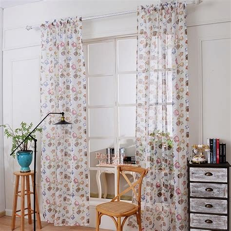 Best Owl Print Window Curtain Cartoon Yarn Bedroom Living Room With Pictures