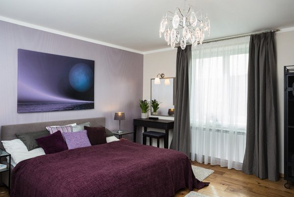 Best 15 Stunning Black White And Purple Bedrooms Home Design With Pictures