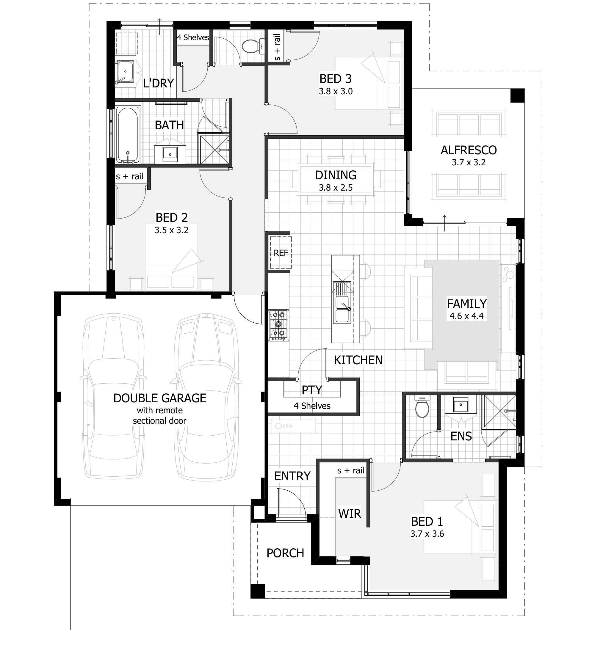 Best Full House Floor Plan Unique 3 Bedroom House Plans Home With Pictures