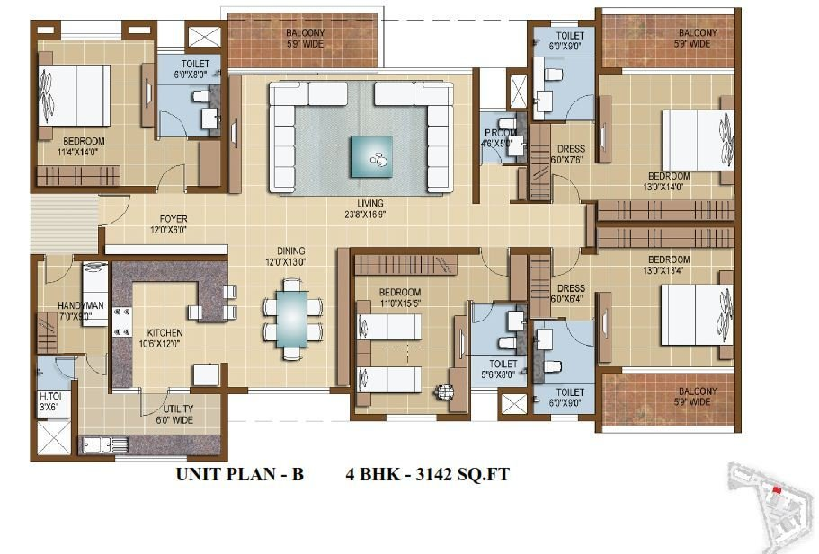 Best Sterling Infinia 3 4 Bedroom Apartments Bangalore With Pictures