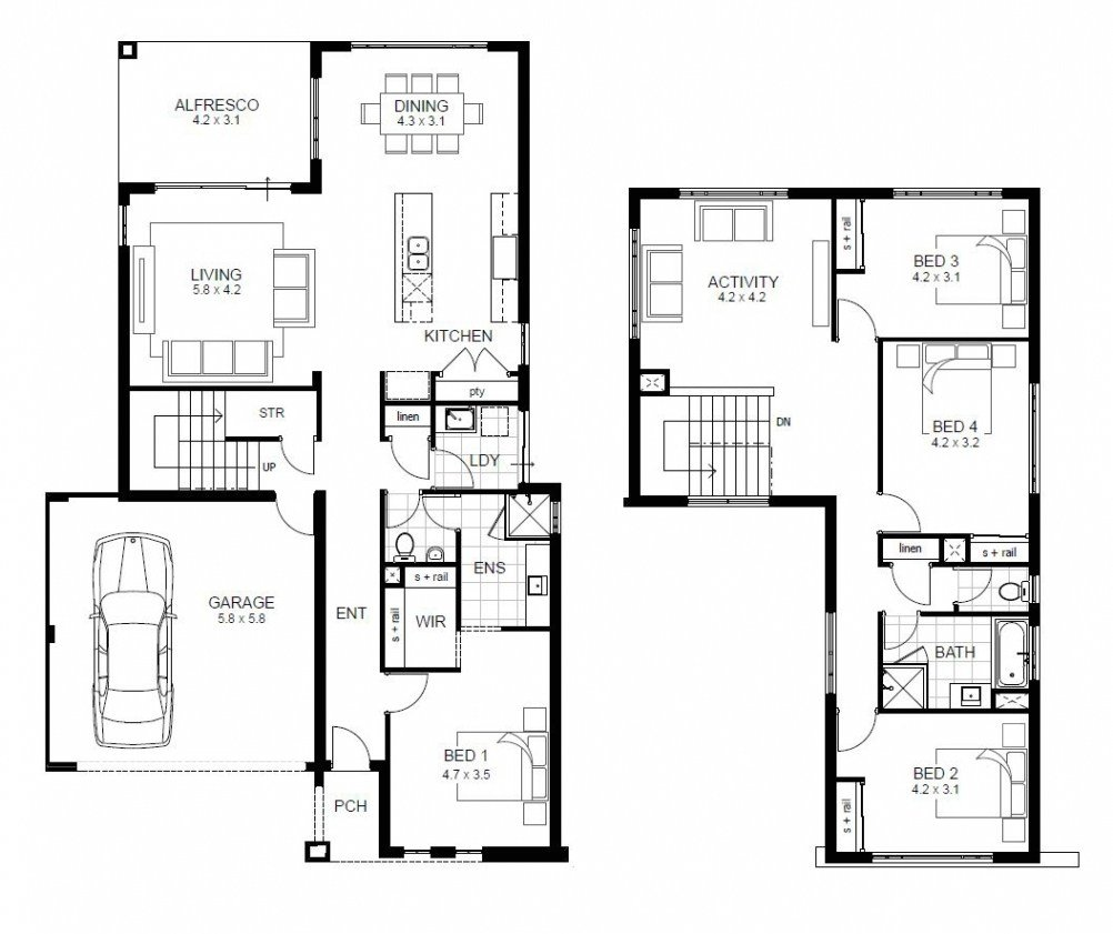 Best Luxury Sample Floor Plans 2 Story Home New Home Plans Design With Pictures