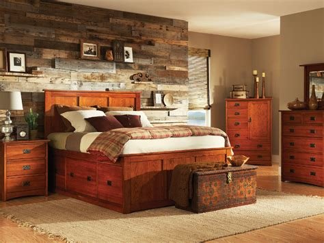 Best American Mission Ii Pedestal Bed Bedroom Hom Furniture With Pictures