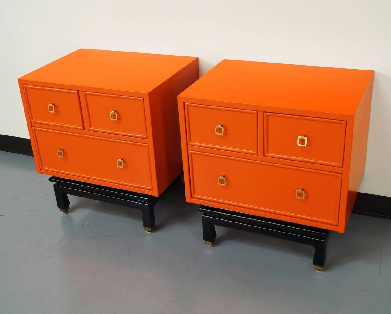 Best Vintage Lacquered Nightstands By American Of Martinsville With Pictures