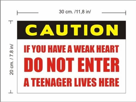 Best Wall Stickers Funny Teenager Bedroom Door Vinyl Sticker Sign Caution Do Not Enter Multi With Pictures