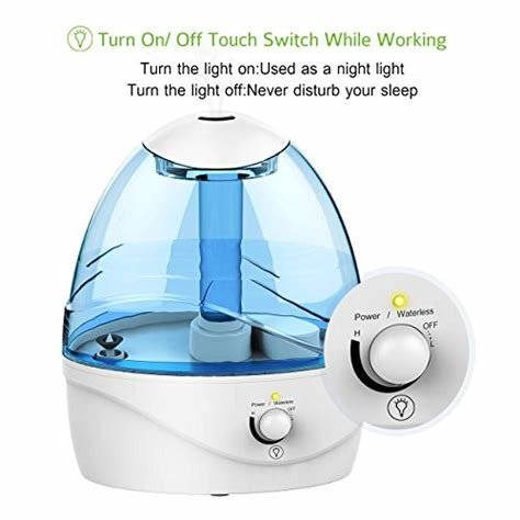Best Pictek Cool Mist Humidifier 2 5L Ultrasonic Air With Pictures