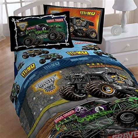 Best 4Pc Monster Jam Twin Bedding Set Grave Digger Monster With Pictures