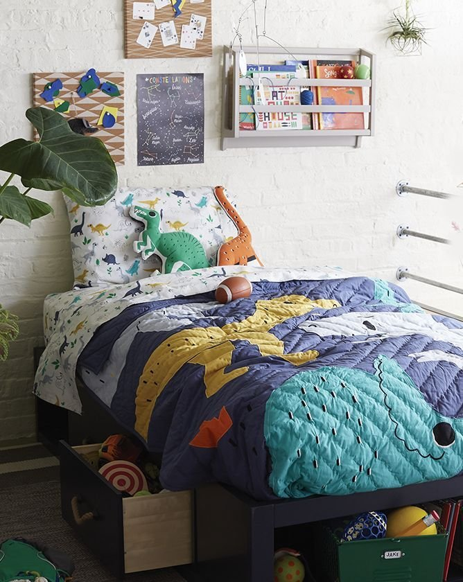 Best Boys Dinosaur Themed Bedroom Crate And Barrel With Pictures