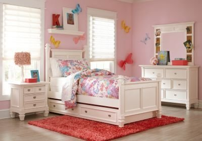 Best Belmar White 5 Pc Full Poster Bedroom Bedroom Sets Colors With Pictures