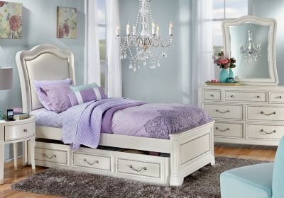 Best Sofia Vergara Kayla White 5 Pc Full Panel Bedroom T**N With Pictures