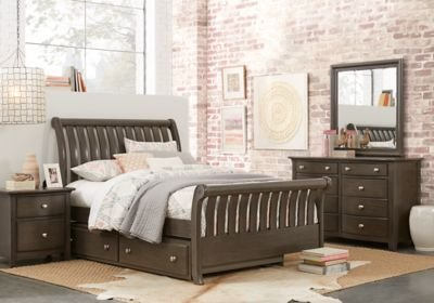 Best Santa Cruz Gray 5 Pc Full Sleigh Bedroom T**N Bedroom With Pictures