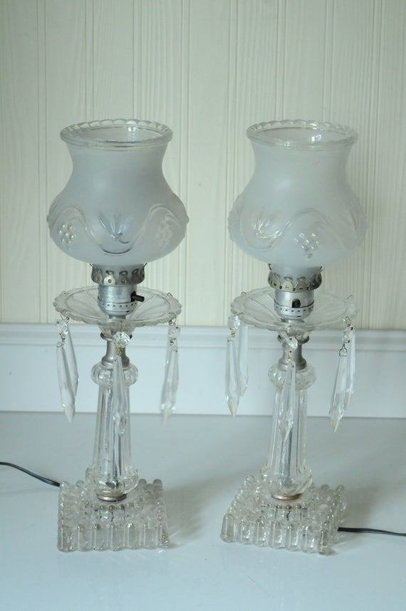 Best Antique Crystal Lamps Antique Crystal Dresser By Pagescrappers With Pictures