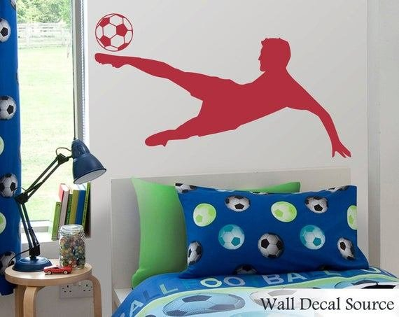 Best Soccer Wall Decal Football Wall Decal Boys Wall Decal With Pictures