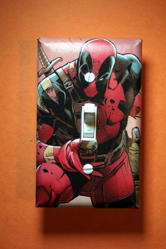Best Deadpool Comic Book Superhero Light Switch Plate By With Pictures