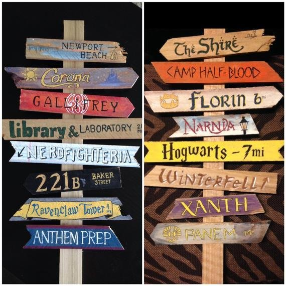 Best Create Your Own Fandom Directional Sign For By With Pictures